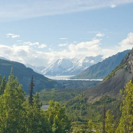 Uitzicht in Wrangell St. Elias National Park
