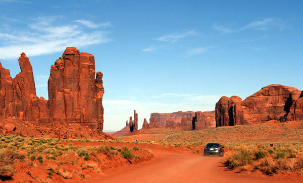 Valley Drive, de onverharde weg door Monument Valley