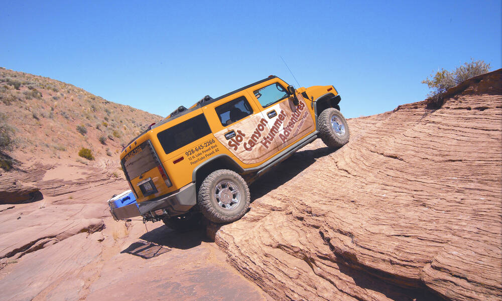 Rit naar de Secret Canyon per Hummer