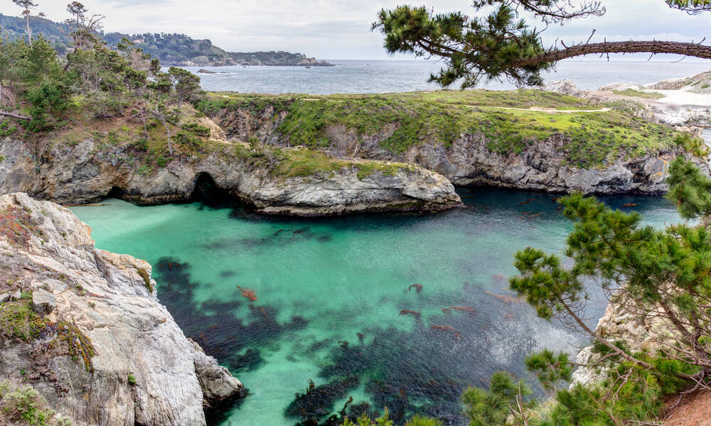 Point Lobos aan Highway 1 California, China Cove