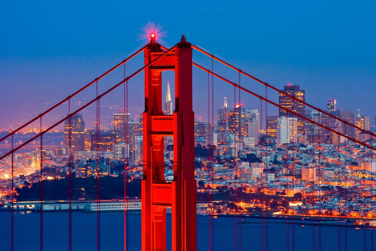 Bouwwerk Golden Gate Bridge In San Francisco
