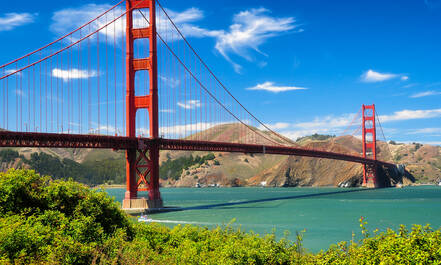 Golden Gate Bridge in San Francisco schittert in vele films