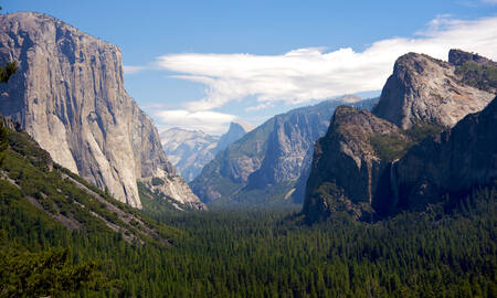 Yosemite, uitzicht over de vallei