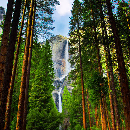 De Yosemite Falls in Yosemite National Park