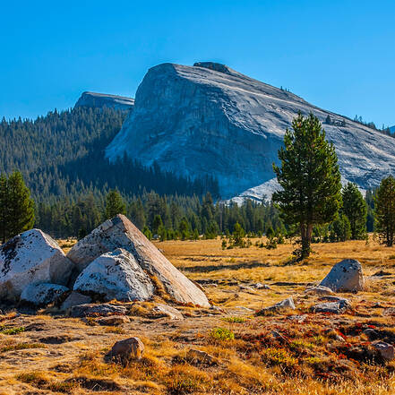 Tuolumne Meadows aan de Tioga Road, Yosemite