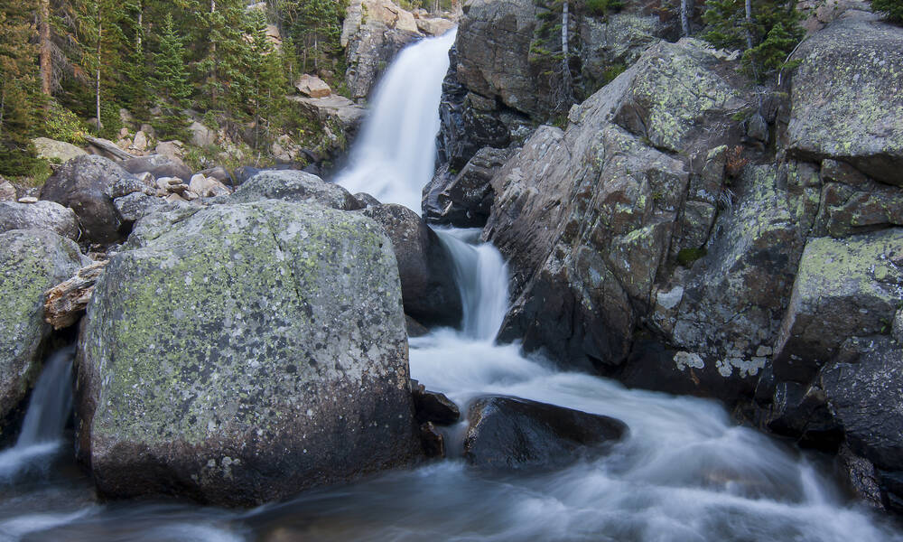 Alberta Falls in Rocky Mountain National Park, Colorado