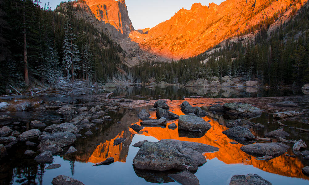 Dream Lake in Rocky Mountain National Park, Colorado
