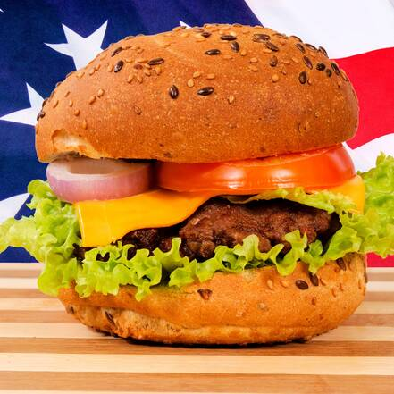 Hamburger, fastfood in Amerika