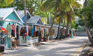 Straat in Key West Florida