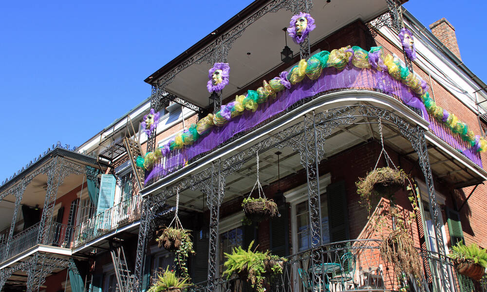Mardi Gras in French Quarter, New Orleans Louisiana