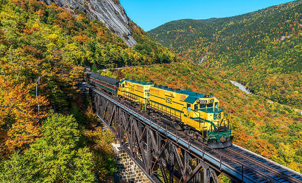 Conway Scenic Railroad, populaire treinroute in New Hampshire