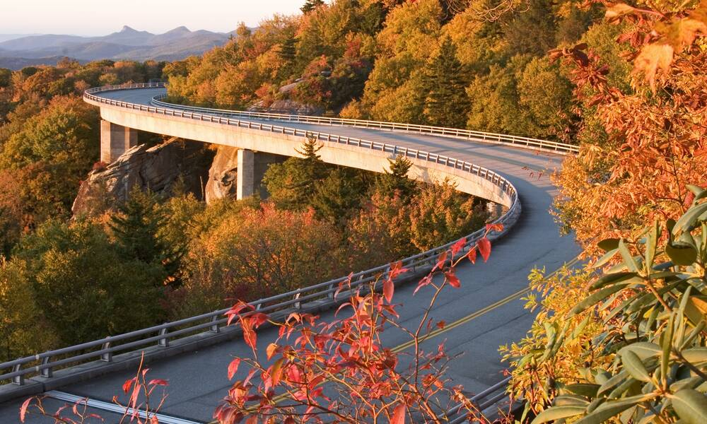 Blue Ridge Parkway in Oost Amerika