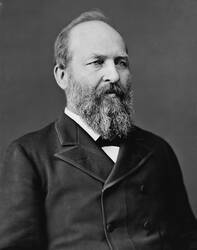 Portret van president James Abram Garfield, president in 1881