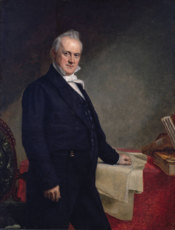 Portret van James Buchanan