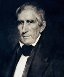 Portret van president William Henry Harrison, president van de VS in 1841