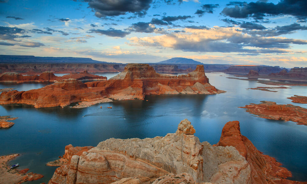 Lake Powell in Utah en Arizona
