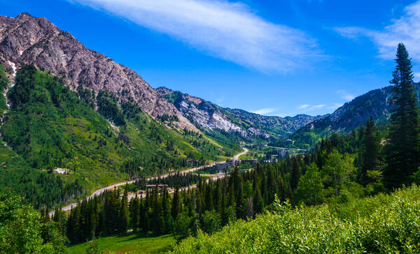 Cottonwood Canyon nabij Salt Lake City