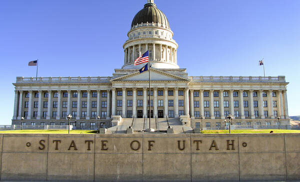 Utah State Capital in Salt Lake City