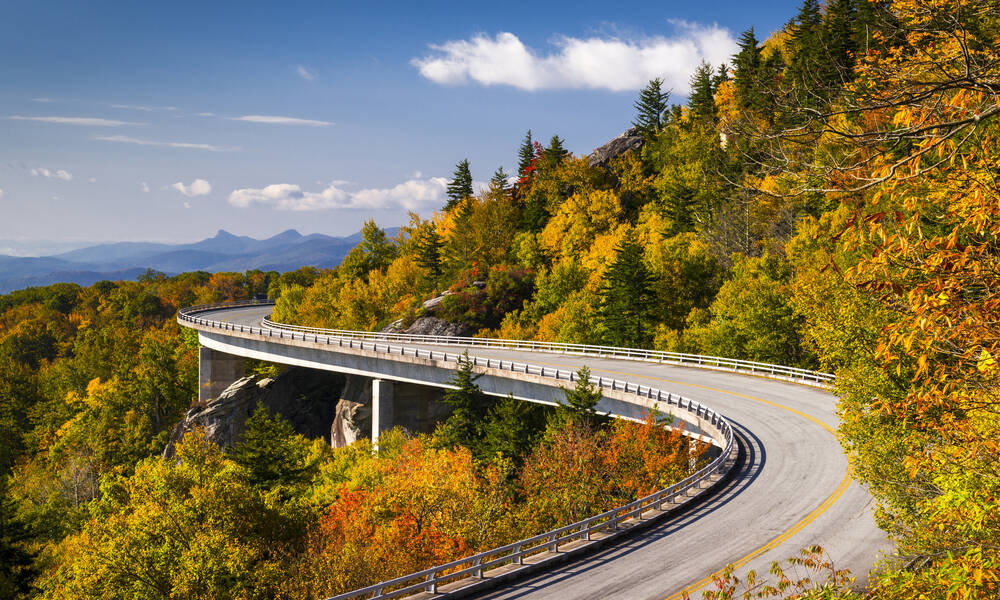 Linn Cove Viaduct, Blue Ridge Parkway, Virginia