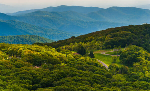 Shenandoah Valley Overlook in Virginia