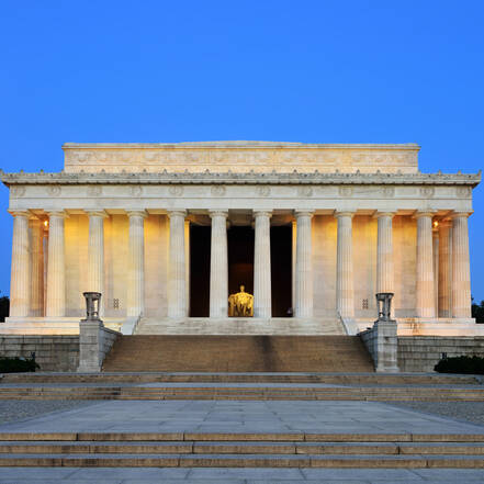 Lincoln Memorial in Washington DC, ter ere van president Lincoln