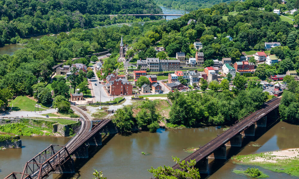 Harpers Ferry vanaf Maryland Heights