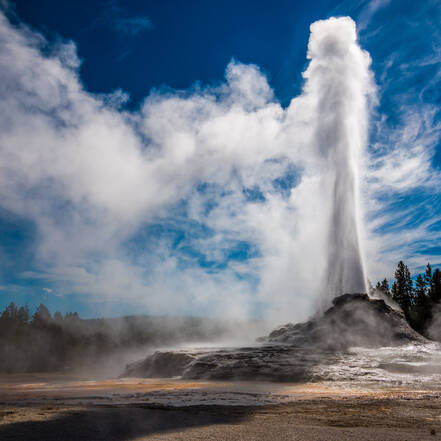 Yellowstone National Park in Wyoming, Castle Geyser
