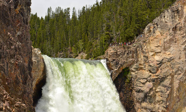 Yellowstone National Park Canyon Country, Lower Yellowstone Falls