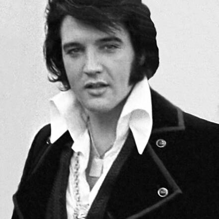 Portret van Elvis in 1970