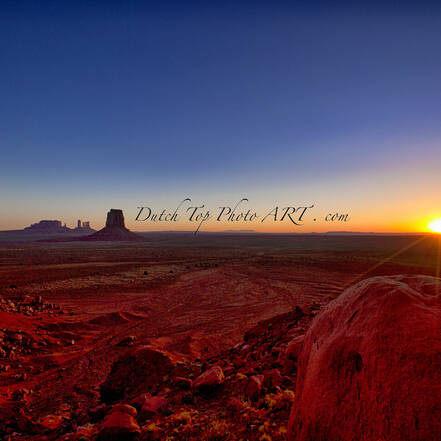 Zonsopkomst in Monument Valley