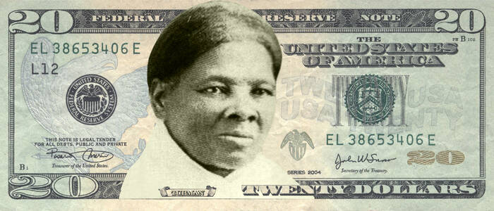 Harriet Tubman op 20 dollarbiljet