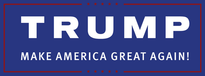 Slogan Trump Make America Great Again