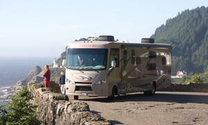 El Monte RV familie-camper AF-34 slide-out