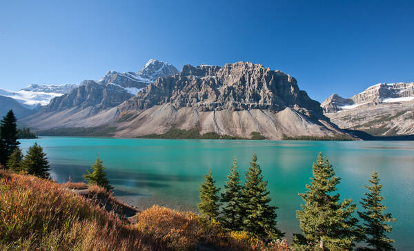 Bow Lake aan de Icefields Parkway