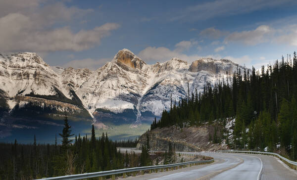 Icefields Parkway in Banff en Jasper National Park