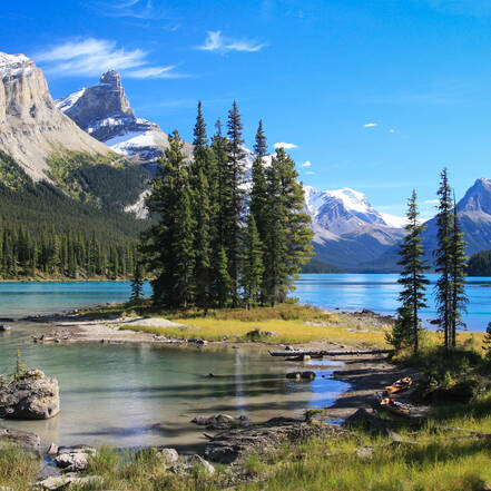 Jasper National Park, Spirit Island in Maligne Lake