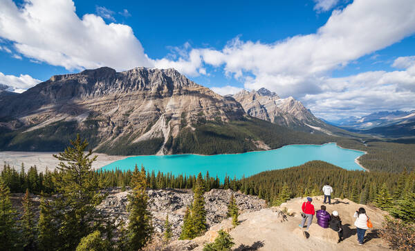 Peyto Lake in Banff National Park