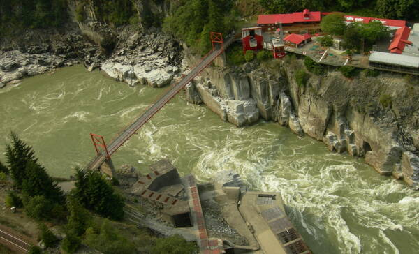 Hells Gate in de Fraser Canyon
