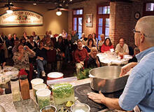 Open demonstration cooking class