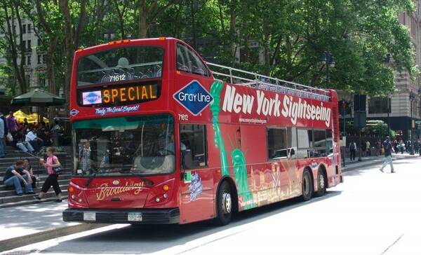 Hop on hop off bussen in New York City