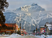 Tour door Banff