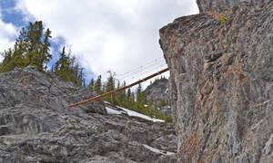 Banff via ferrata Mt Norquay