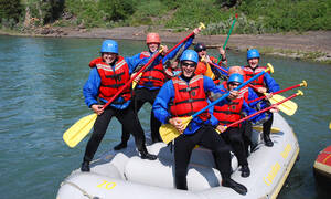 Bow River whitewater raften in Canada