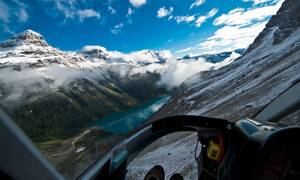 Mt Assiniboine Canmore helikopter
