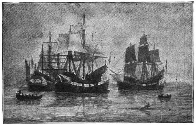 The Winthrop Fleet landt in New England