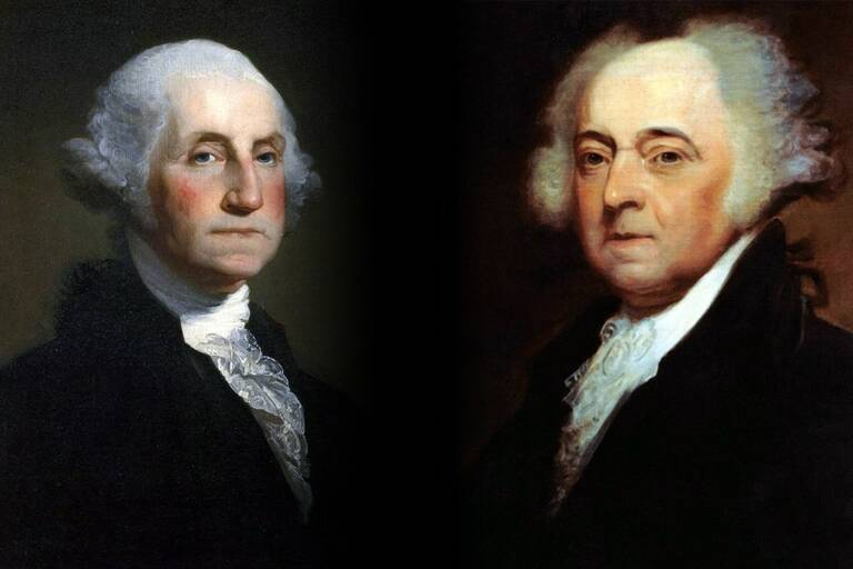 George Washington en John Adams