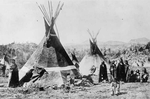 Shoshone in Wyoming rond 1870